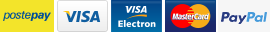 Paga con crat di credito, debito, ricaricabile o Paypal